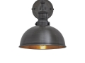 Brooklyn Dome Wall Light - 8 Inch - Pewter & Brass