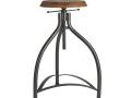 Cooper Solid Wood & Metal Adjustable Bar Stool - 34 Inch