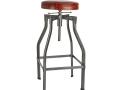 Turner Leather & Metal Adjustable Bar Stool - 35 Inch